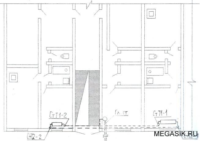 2) Вычертили монтажную схему