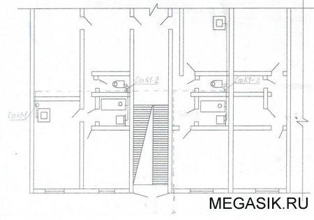 Рисунок 4.1 - Трассировка сети внутренней канализации 4.2 Аксонометрическая схема системы канализации здания в...